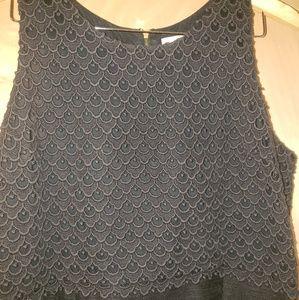 Adorable black dress by Loft size 16